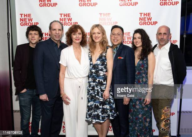 Jesse Eisenberg Daniel Oreskes Susan Sarandon Marin Ireland Nico Santos Tedra Millan and Scott Elliott attend the opening night of Happy Talk at...