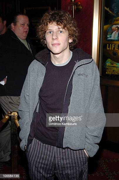 """Jesse Eisenberg during """"The Life Aquatic with Steve Zissou"""" New York Premiere - Inside Arrivals at Ziegfeld Theater in New York City, New York,..."""