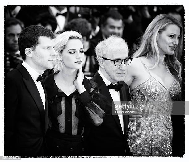 Jesse Eisenberg, Kristen Stewart, Woody Allen and Blake Lively attend the 'Cafe Society' premiere during the 69th annual Cannes Film Festival on may,...
