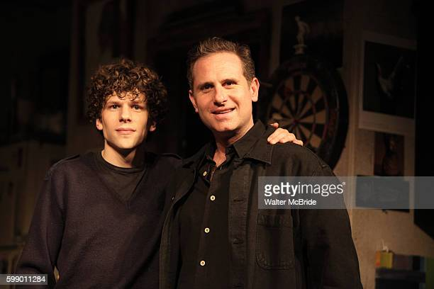 Jesse Eisenberg & Remy Auberjonois at the Opening Night Photo Call for the Rattlestick Playwrights Theater's World Premiere of 'Asuncion' at the...