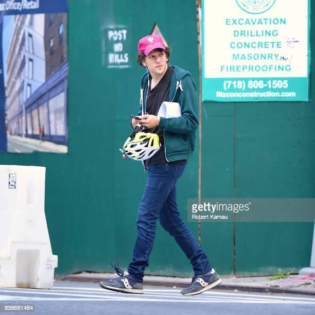 Jesse Eisenberg seen in Manhattan on August 24 2017 in New York City