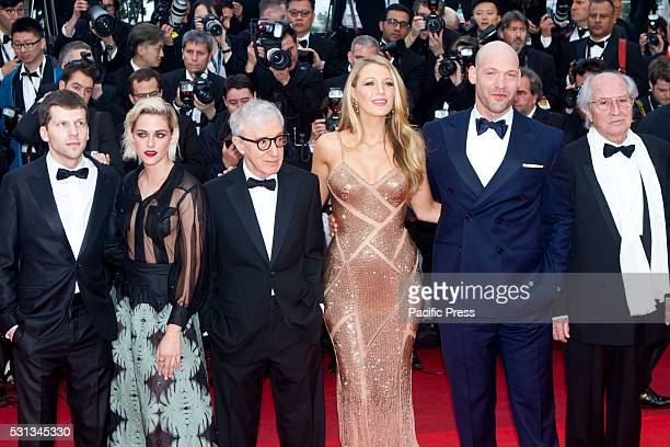 Jesse Eisenberg, Woody Allen, Blake Lively, Corey stoll, Vittorio Storaro attend the 'Cafe Society' premiere and the Opening Night Gala during the...
