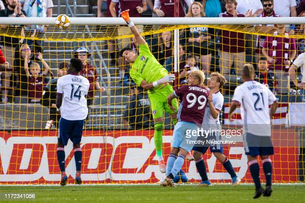 Jesse Gonzalez of FC Dallas reaches for a shot attempt against the Colorado Rapids during the first half at Dick's Sporting Goods Park on September...