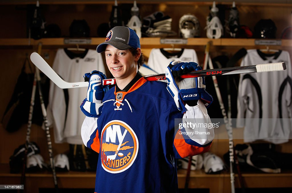Jesse Graham, 155th overall pick by the New York Islanders, poses for a portrait during the 2012 NHL Entry Draft at Consol Energy Center on June 23, 2012 in Pittsburgh, Pennsylvania.