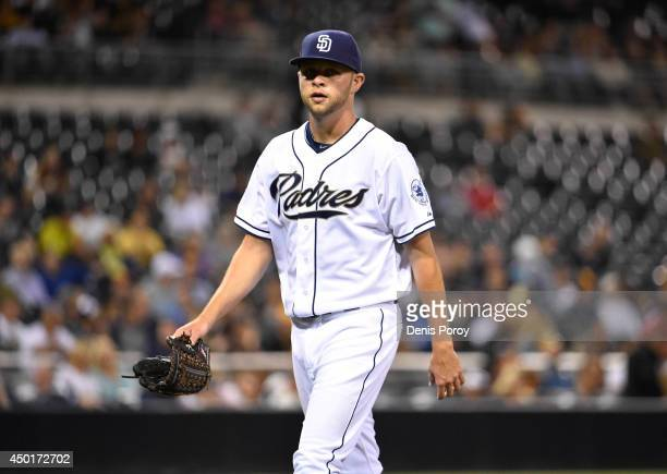 Jesse Hahn of the San Diego Padres pitches during a baseball game against the Pittsburgh Pirates at Petco Park June 3 2014 in San Diego California