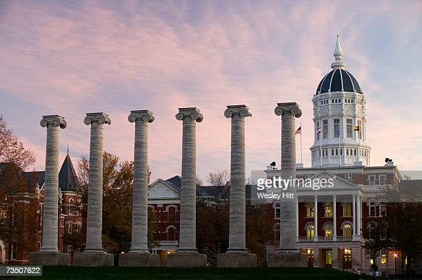 Jesse Hall and the Columns on the campus of the University of Missouri on November 11 2005 in Columbia Missouri