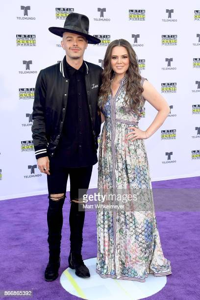 Jesse Huerta and Joy Huerta of Jesse Joy attend 2017 Latin American Music Awards at Dolby Theatre on October 26 2017 in Hollywood California