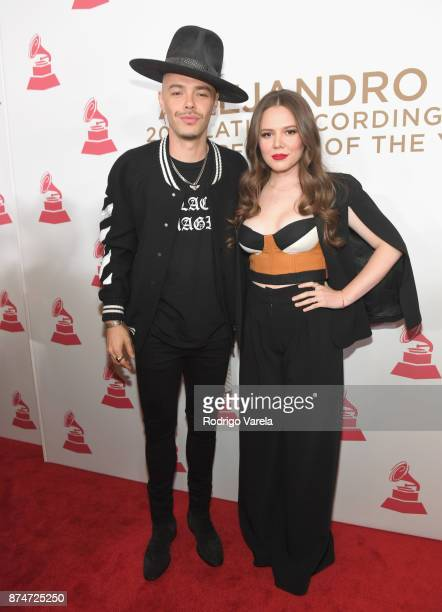 Jesse Huerta and Joy Huerta of Jesse y Joy attend the 2017 Person of the Year Gala honoring Alejandro Sanz at the Mandalay Bay Convention Center on...