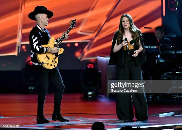 Jesse Huerta and Joy Huerta of Jesse y Joy perform onstage during the 2017 Person of the Year Gala honoring Alejandro Sanz at the Mandalay Bay...