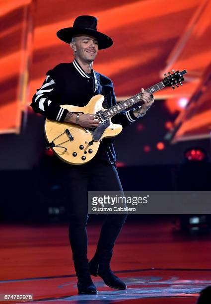 Jesse Huerta of Jesse y Joy performs onstage during the 2017 Person of the Year Gala honoring Alejandro Sanz at the Mandalay Bay Convention Center on...