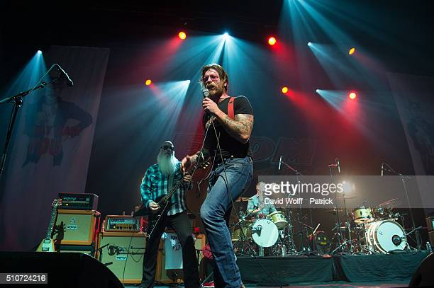 Jesse Hughes from Eagles of Death Metal performs at L'Olympia on February 16, 2016 in Paris, France.