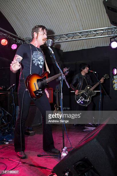 Jesse Hughes of Boots Electric performs on stage at Cockpit on March 12 2012 in Leeds United Kingdom