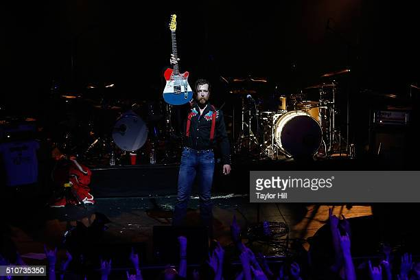 Jesse Hughes of Eagles of Death Metal performs at L'Olympia on February 16 2016 in Paris France