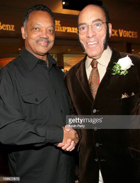 Jesse Jackson and Earl Graves during Black Enterprise Top 50 Hollywood Power Brokers List Party Inside at Beverly Wilshire Four Seasons in Beverly...