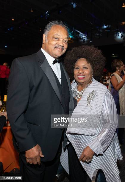 Jesse Jackson and his wife Jacqueline Brown attend the Phoenix Dinner for the 48th Annual Congressional Black Caucus Foundation on September 15 2018...