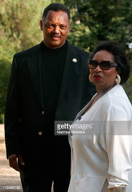 Jesse Jackson and Jacqueline Lavinia Brown during Eighth Annual Hollyrod DesignCure July 22 2006 at Private Residence in Beverly Hills California...