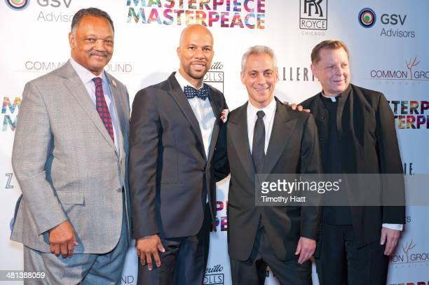 Jesse Jackson Common Chicago Mayor Rahm Emanuel and Father Michael Phleger attend the 2014 Common Ground Foundation gala at the Fairmont Chicago...
