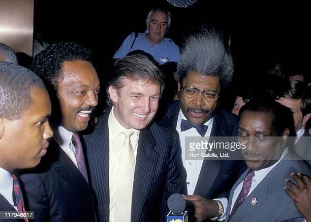Jesse Jackson Donald Trump Don King and John H Johnson