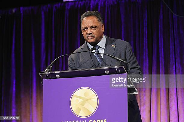 Jesse Jackson speaks onstage during the National CARES Mentoring Movement's 2nd Annual 'For the Love of Our Children' Gala at Cipriani 42nd Street on...