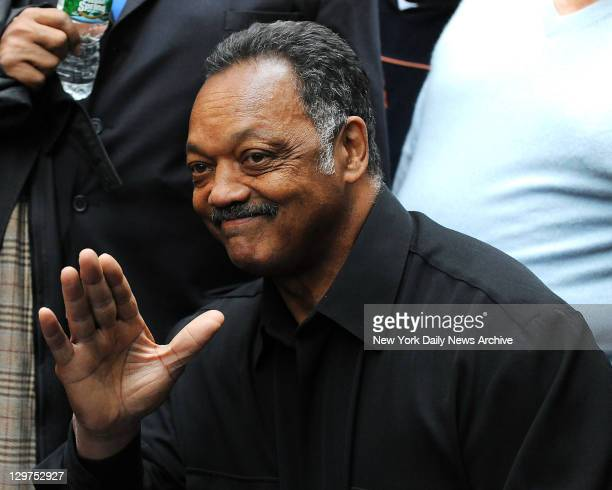 Jesse Jackson visited Occupy Wall Street protesters demontration at Zuccotti Park