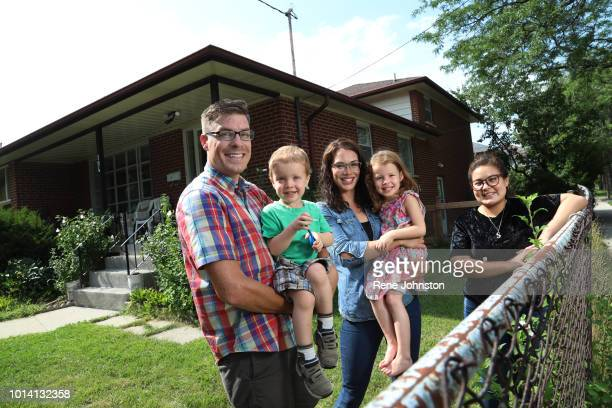 TORONTO ON Jesse James and his wife Joannayoung family who've struggled to find an affordable rental in Willowdale now that prices are so high...