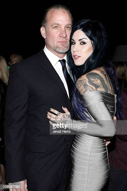 Jesse James and Kat Von D attend Grey Goose Toasts the Art of Elysium Heaven Gala on January 15, 2011 in Los Angeles, California.