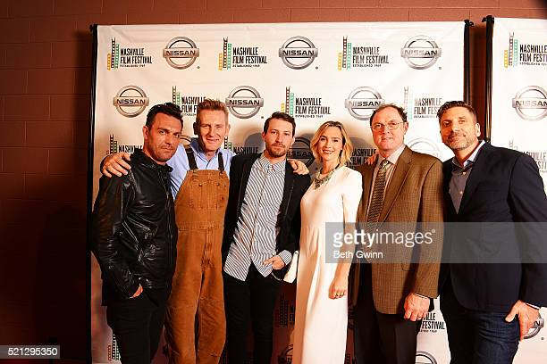 Jesse James Loccorriere Rory Feek Linds Edwards Heidi Feek and Aaron Carnahan attends the 2016 Nashville Film Festival at Regal Green Hills on April...