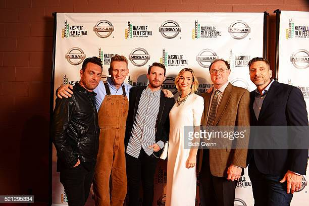 Jesse James Locorriere Rory Feek Linds Edwards Sara Antonio and Aaron Carnahan attends the 2016 Nashville Film Festival at Regal Green Hills on April...