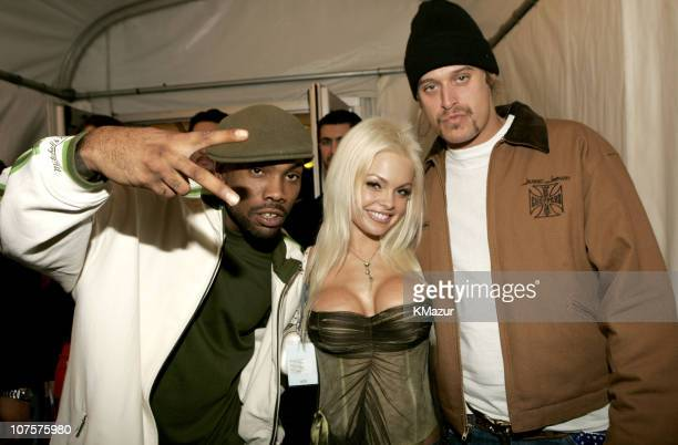 Jesse Jane Kid Rock and guest during 2004 MTV European Music Awards Backstage And Audience at Tor di Valle in Rome