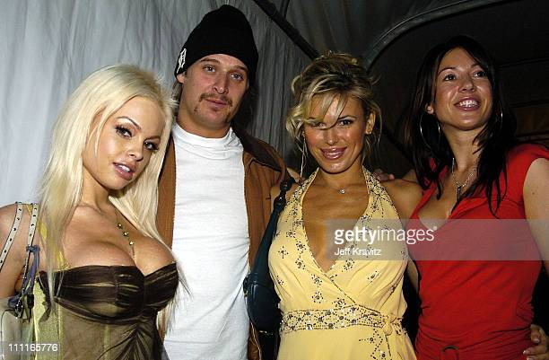 Jesse Jane Kid Rock and guests during 2004 MTV European Music Awards Backstage And Audience at Torr di Valle in Rome Italy