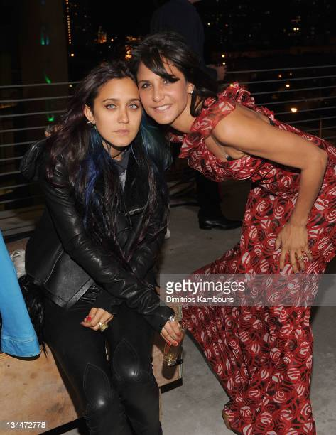 Jesse Jo Stark and Laurie Lynn Stark attend a Jesse Jo Stark performance at The Alchemist for Art Basel at The Alchemist on December 1 2011 in Miami...
