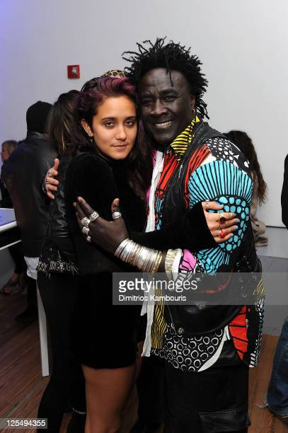 Jesse Jo Stark and Moko attend Designer of the Year Dinner hosted by Chrome Hearts for Design Miami at The Moore Building on December 3 2010 in Miami...