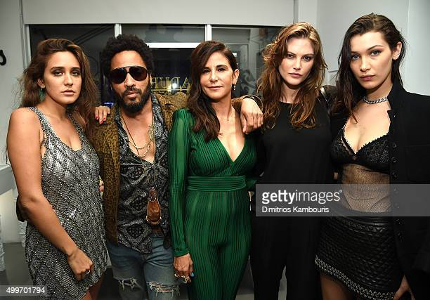Jesse Jo Stark Lenny Kravitz Laurie Lynn Stark and Bella Hadid attend Chrome Hearts Celebrates Art Basel With Laduree Sean Kelly And A Live...
