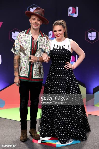 Jesse Joy attend the Univision's 'Premios Juventud' 2017 Celebrates The Hottest Musical Artists And Young Latinos ChangeMakers at Watsco Center on...