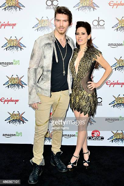 Jesse Kove and Kerri Kasem arrive at the 2014 Revolver Golden Gods Awards at Club Nokia on April 23, 2014 in Los Angeles, California.