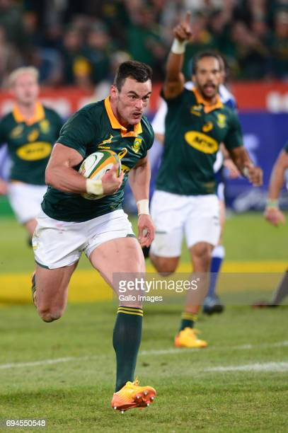 Jesse Kriel of the Springboks during the Castle Lager Incoming Series 1st Test between South Africa and France at Loftus Versfeld on June 10 2017 in...