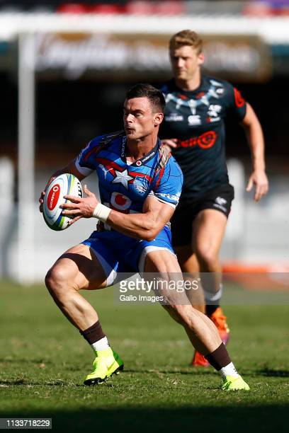 Jesse Kriel of the Vodacom Bulls on attack during the Super Rugby match between Cell C Sharks and Vodacom Bulls at Jonsson Kings Park on March 30...