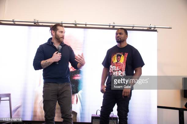 Jesse Krimes and Russell Craig speak at The OG Experience by HBO at Studio 525 on February 23 2019 in New York City