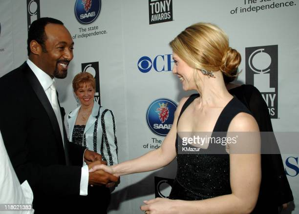 Jesse L Martin and Claire Danes during 59th Annual Tony Awards Red Carpet at Radio City Music Hall in New York City New York United States
