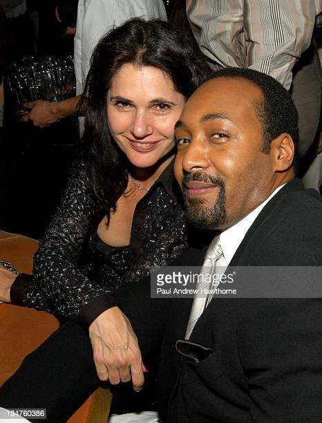 Jesse L Martin and guest attend Entertainment Weekly's party celebrating their 10th Anniversary Oscar Party with a host of celebrities at Elaine's on...