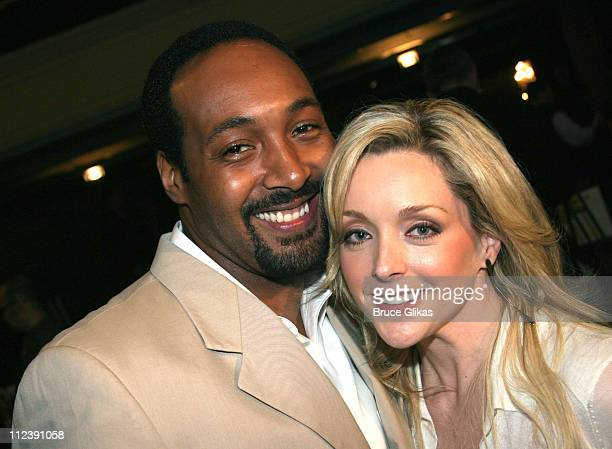 Jesse L Martin and Jane Krakowski during 58th Annual Tony Awards Nominee Announcements at The Hudson Theater in New York City New York United States