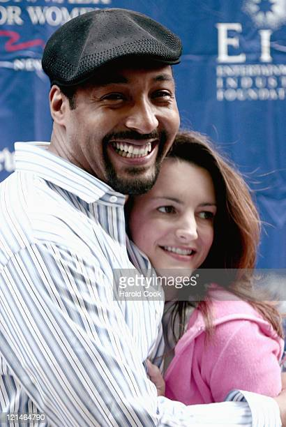 Jesse L Martin and Kristin Davis during Entertainment Industry Foundation and Revlon Present the 7th Annual Run/Walk for Women New York at Times...