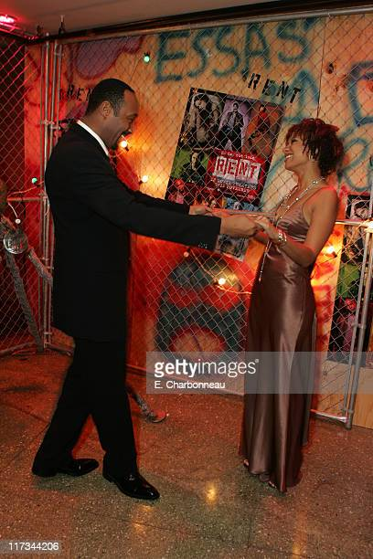 Jesse L Martin and Tracie Thoms during Revolution Studios' and Columbia Pictures' World Premiere of 'Rent' at Ziegfeld Theatre/Roseland in New York...