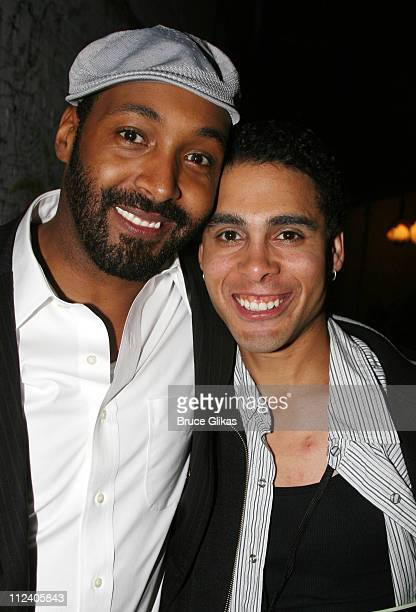 Jesse L Martin and Wilson Jermaine Heredia during 'Rent' Celebrates 10th Anniversary on Broadway April 24 2006 at The Nederlander Theater in New York...