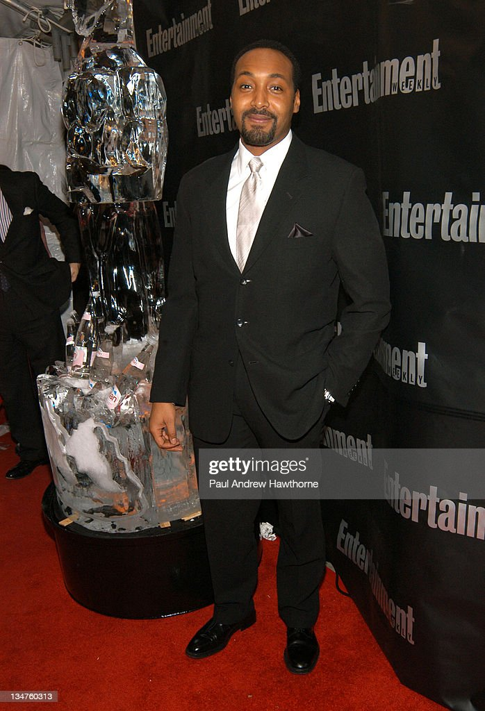 Jesse L. Martin attend Entertainment Weekly's party celebrating their 10th Anniversary Oscar Party with a host of celebrities at Elaine's on Sunday. Guests were greeted by two gigantic, seven foot high ice sculpture Oscar statuettes, as shown, and enjoyed food and drink inspired by Oscar nominees.