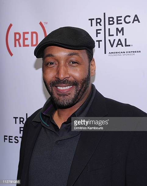 Jesse L Martin attends the after party for the premiere of 'Puncture' during the 10th annual Tribeca Film Festival at 1OAK on April 21 2011 in New...