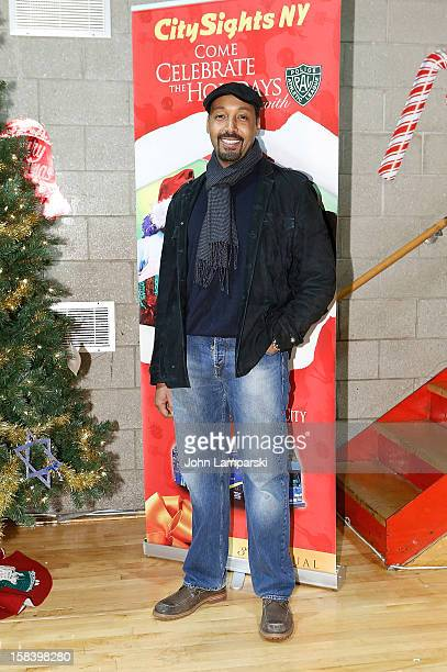 Jesse L Martin attends The Police Athletic League And CitySights NY Holiday Party And Toy Drive at PAL's Harlem Center on December 15 2012 in New...