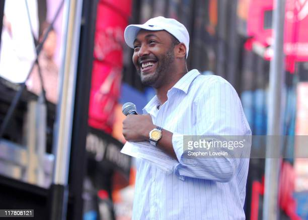 Jesse L Martin during 10th Annual Entertainment Industry Foundation's Revlon Run/Walk For Women in New York at Times Square and ends at the East...