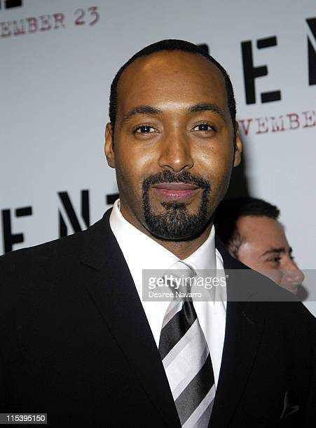 Jesse L Martin during ''Rent'' New York City Premiere Arrivals at Ziegfeld Theater in New York City New York United States