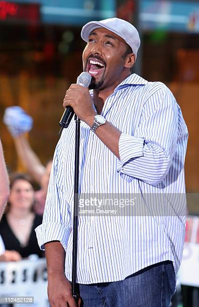 Jesse L Martin during The Cast of The Movie 'Rent' Performs on the 2005 'Today' Show Summer Concert Series at NBC Studios Rockafeller Plaza in New...